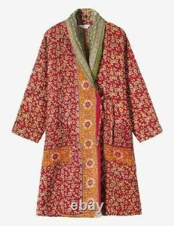 10 Pcs Vintage Handmade kantha Long Winter Jacket Ralli Gudri Coat