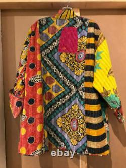 10 Pcs of Vintage Kantha Hand Crafted Cotton Jacket Indian Handmade Coat