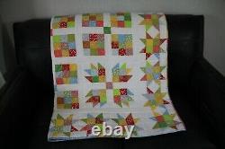 1930s fabrics Handmade patchwork Quilt