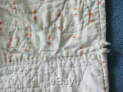 2 Matching Antique Vintage Handmade Dresden Plate Twin Size Quilts