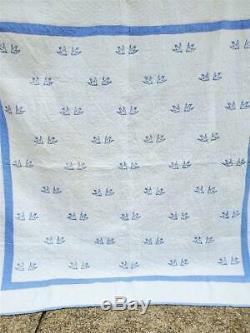 (20) EXQUISITE Vintage Quilt BLUEBIRD BLUE BIRDS Handmade from PA Farmhouse