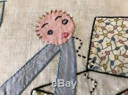 24 VTG Quilt Blocks Applique & Embroider Handmade ABC Letter Alphabet EUC Lot 8