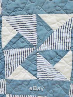 (269) VERY NICE Vintage Quilt PINWHEEL Handmade