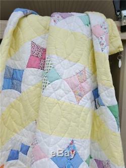 (27) LOVELY Vintage Quilt HUMMINGBIRD Hand Made