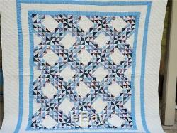 (295) WOW! Beautiful Vintage Quilt WILD GOOSE CHASE Handmade