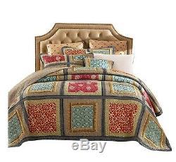 3pc. Vintage Patchwork 100% Cotton King Size Handmade Quilt Cover Set