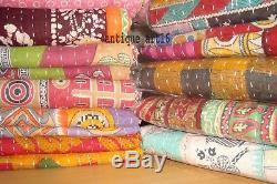Indian Vintage Kantha Quilt Bedding Bedspread Blanket Gudari Rug Wholesale Lot