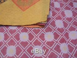 40 PSC LOT Indian Vintage Kantha Quilt Reversible Blanket Gudri Rug Wholesale