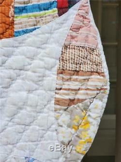 (72) GORGEOUS! Vintage FEED SACK Quilt FLOWER PETALS Handmade