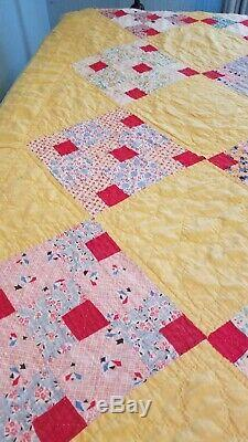 74 By 84 Vintage Handmade Quilt