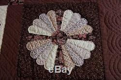 Amish Vintage Handmade Patchwork Quilt Lancaster Pa. Sampler 77x94
