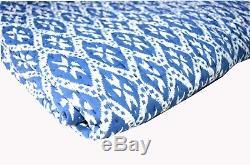 Anthropologie Art King Size Quilt Handmade Blanket Comforter Vintage Look