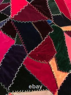Antique Crazy Quilt velvet