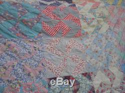 Antique Pinwheel Pretty Feminine Quilt Pennsylvania Early 1880-1920'S Cotton