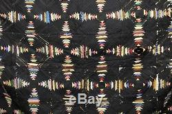 Antique QUILT dated 1881 HAND MADE Museum Quality 60 x 60 vintage old