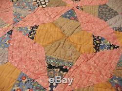 Antique Vintage Star Patch Multi Color Quilt Bedding Quilts Cotton Handmade