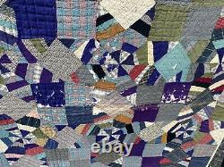Antique hand sewn crazy quilt