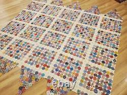 Antique or Vintage Handmade YoYo Yo-Yo Bed Spread Comforter Quilt