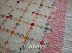 Authentic Vintage Baby Crib QUILT dated 1931 Postage Stamp 5/8pcs