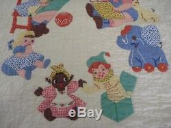 Awesome Vintage Handmade Baby Crib Quilt