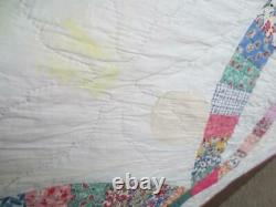 Classic Antique Wedding Ring Quilt Expertly Quilted Freshly Laundered