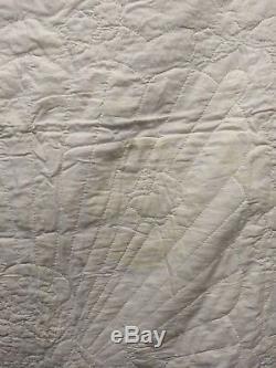 Cute Vintage Handmade Baby Toddler Blanket Quilt Crib Cover, Angel & Butterflies