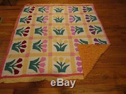 Estate Vintage Handmade Quilt