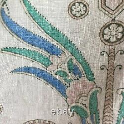 French Antique Quilt Piquee Boutis Natural Canvas Cotton Intricate Floral Design