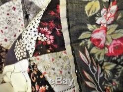 Genuine Vintage Hand Made American Quilt Patchwork Cotton Throw 80 X 74