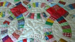 Gorgeous Handmade Quilt Rare Beauty! Vintage Approx 77 X 87
