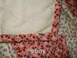 HUGE Vintage 100% Handstitched Handmade Quilt 100in X 108in Beautiful Very Soft