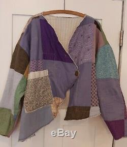 Handmade REVERSIBLE Jacket S-3X Vintage Quilt Patchwork Lagenlook Boho tmyers