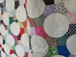 Handmade VTG Patch Work Scrap Quilt Queen Bed Size VARIETY of Patterns CLEAN
