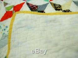 Handmade Vintage Hummingbird Pattern Quilt with 1940s & 1950s Fabrics