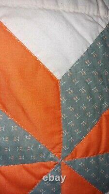 Handmade Vintage Pinwheel Quilt