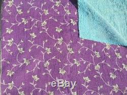 Indian Old Vintage Patchwork Handmade Kantha Quilt Blanket Gudari Lot 10