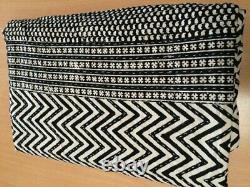 Kantha Quilt Bedspread Cotton Handmade Vegetable Indian Blanket King Size, Crazy