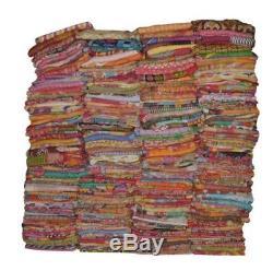 Kantha Quilt Indian Vintage Reversible Throw Handmade Blanket Wholesale Lot10pc