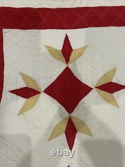 Late 1800s Vintage Appliqué Hand Made Quilt Great Condition