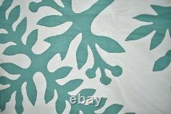 MAGNIFICENT Vintage 30's Hawaiian Applique Antique Quilt Top Summer Spread