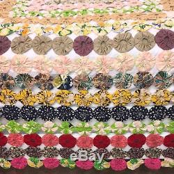 Omg! Beautiful Handmade Vintage Yo Yo Large Quilt Gorgeous Yo-yo Blanket Yoyo