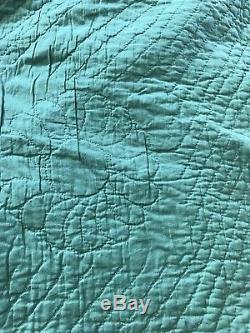 Patchwork quilt Civil War Era 1800 Handmade Hand quilting Antique Vintage