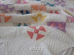 Pretty Country Farmhouse Shoofly Vintage 30s QUILT 84x74