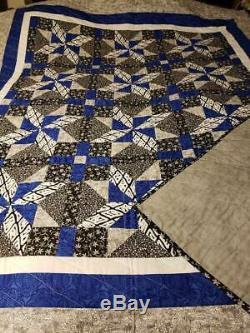 Quilt, Handmade, Beautiful Blue