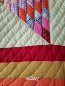 STUNNING Vintage Star of Bethlehem Handmade Quilt