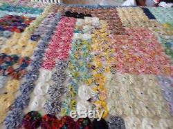 Stunning YoYo Quilt VintageHand-Made98 x 106ESTATEFresh & Clean
