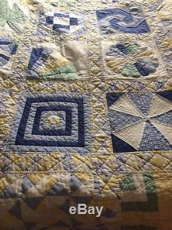 Superb Handcarfted Vintage Laura Ashley Fabric Quilt Sweet Pea