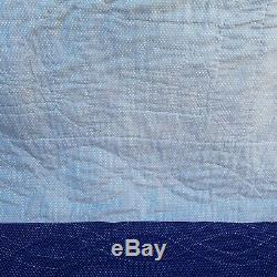 Tiny Houses Vintage Hand Made Quilt 80 x 64 Inches Bed Cover Cottage Decor