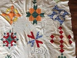 Vintage 1930s Ruby McKim Album Quilt Top Sampler Handmade Machine 25 Patterns