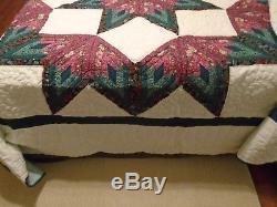 Vintage Amish Quilt Handmade Patchwork Broken Star Lancaster Pa. Full/queen
